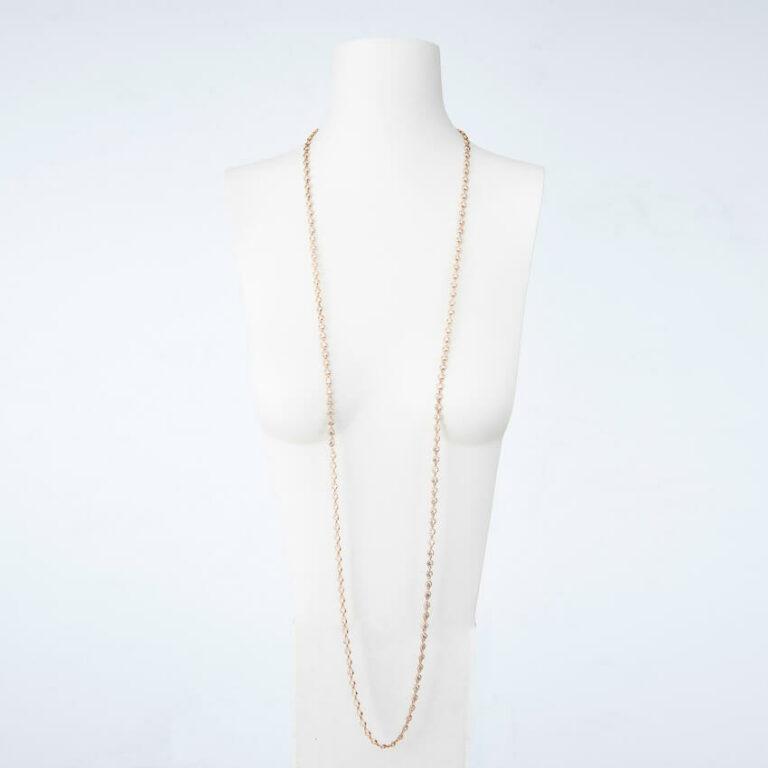 collana lunga oro zirconi