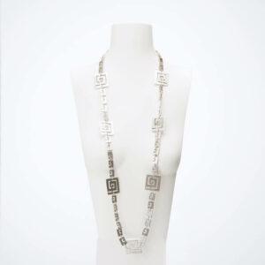 collana lunga spirali argento