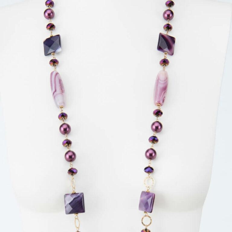 collana lunga viola melanzana