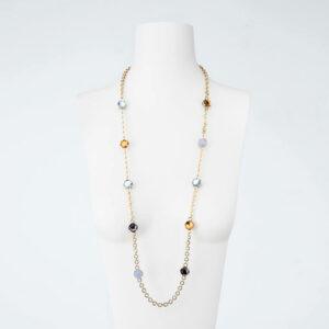 collana multicolor cristalli sfaccetati