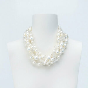 collana multifili perle