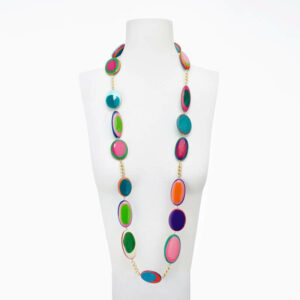 collana resina multicolor