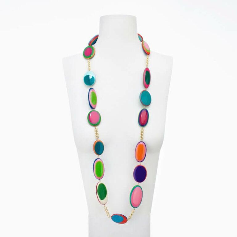 collana resina multicolor