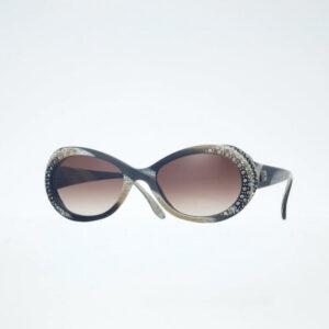 occhiali sole pagani charmant nero strass avana