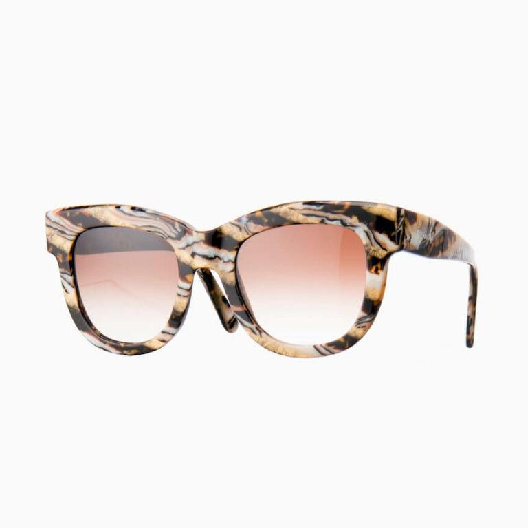occhiali sole pagani fiore marmo oro