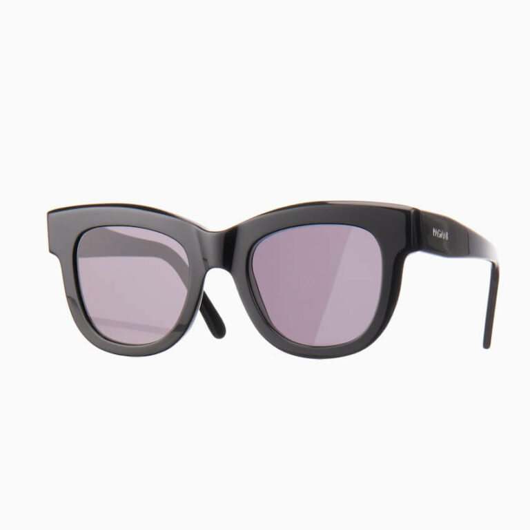 occhiali sole pagani fiore nero lenti piatte