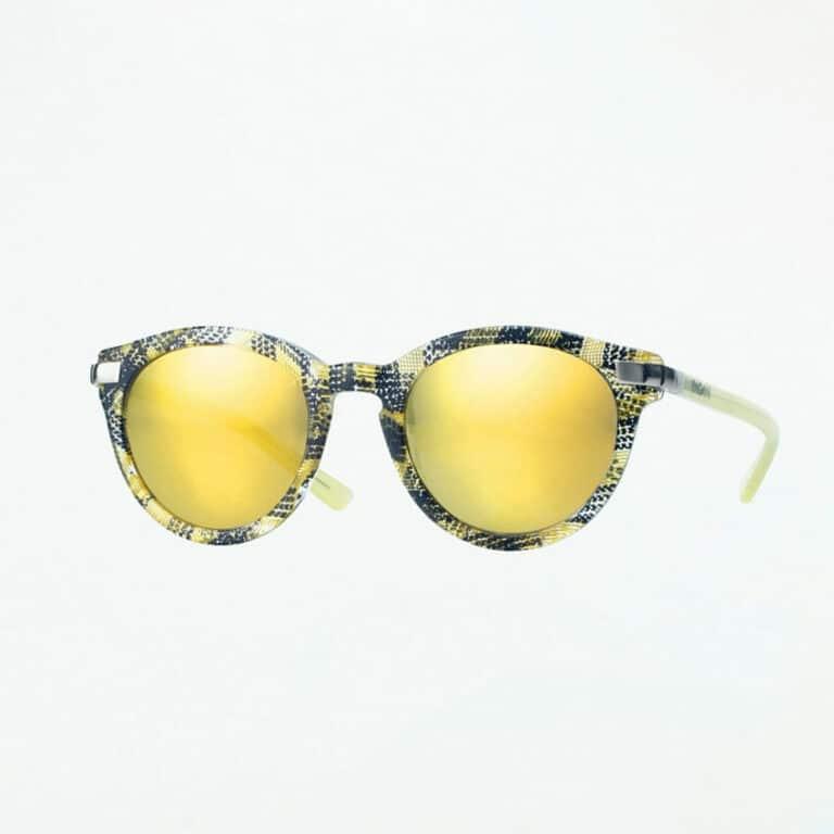 occhiali sole pagani leo nero verde lime