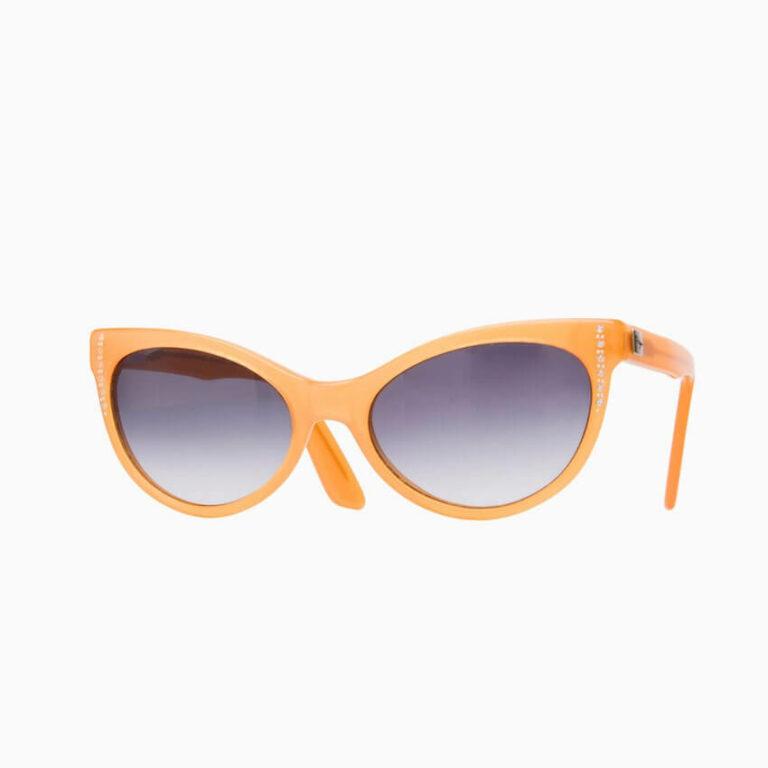occhiali sole pagani papillon arancione strass