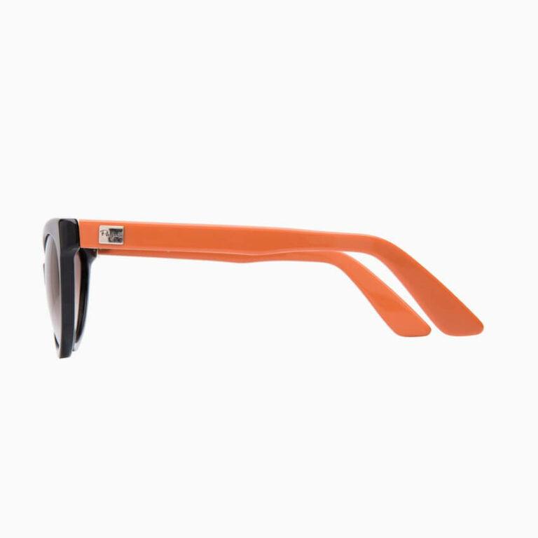 occhiali sole pagani papillon nero arancione