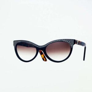occhiali sole pagani papillon nero strass