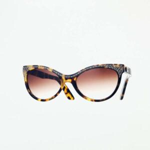 occhiali sole pagani papillon tartaruga strass