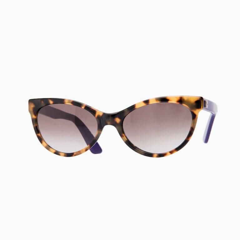 occhiali sole pagani papillon tartaruga viola
