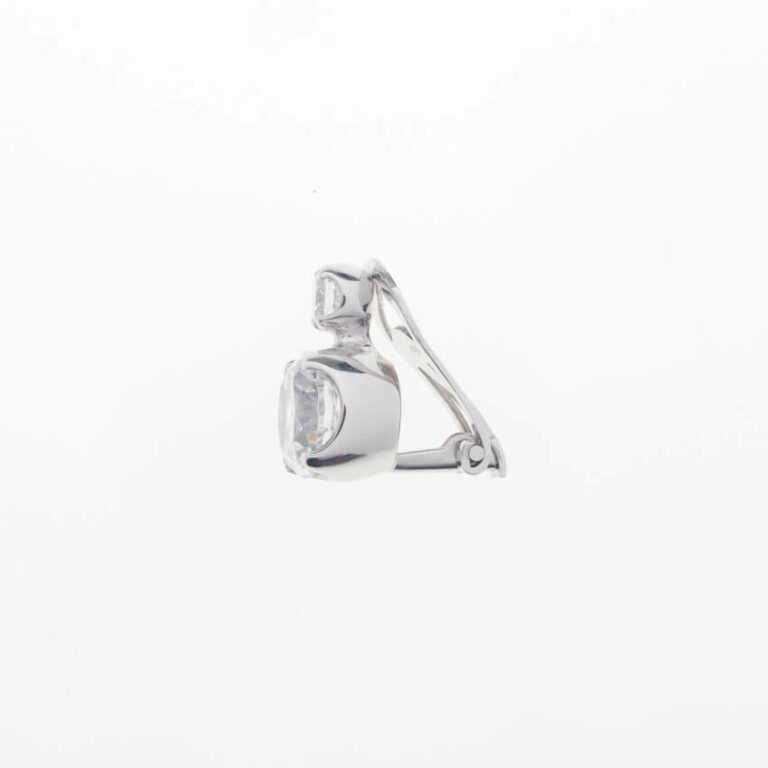 orecchino clip doppio punto luce