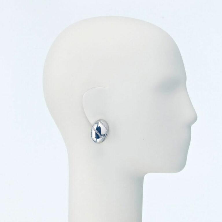 orecchino clip lobo ovale strass