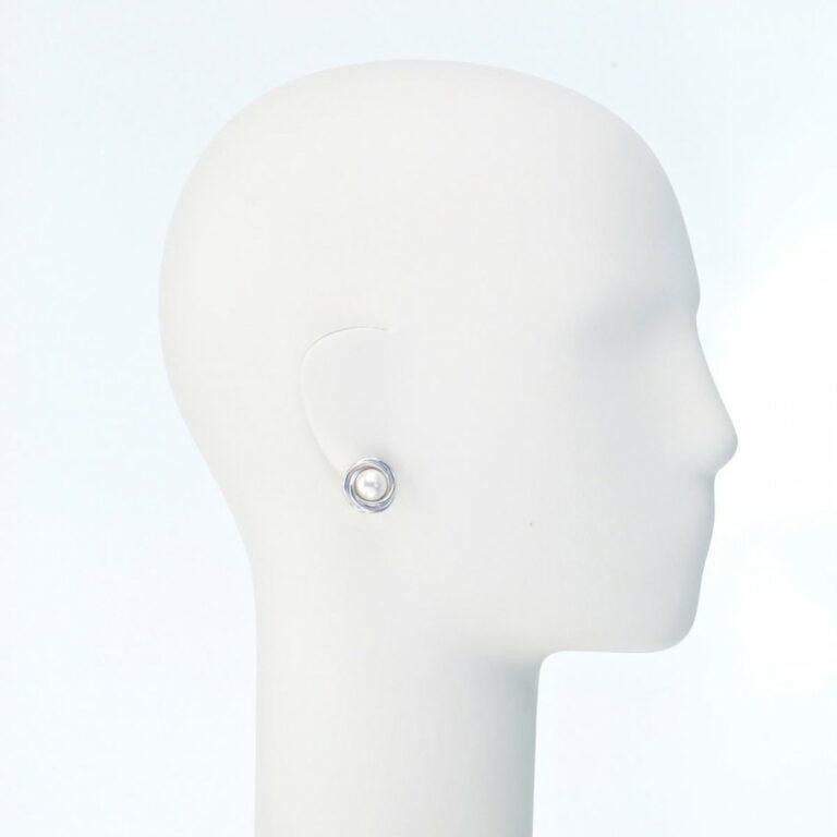 orecchino clip lobo perla