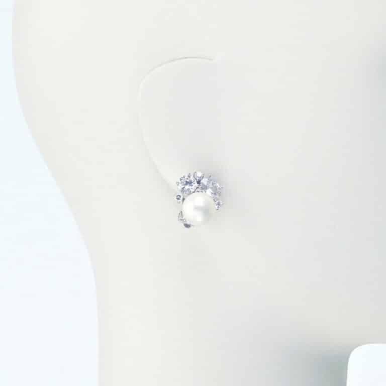 orecchino clip lobo perla zirconi
