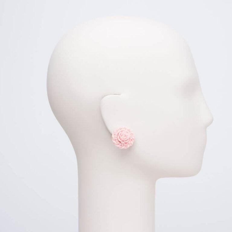 orecchino clip lobo rosa peau ange