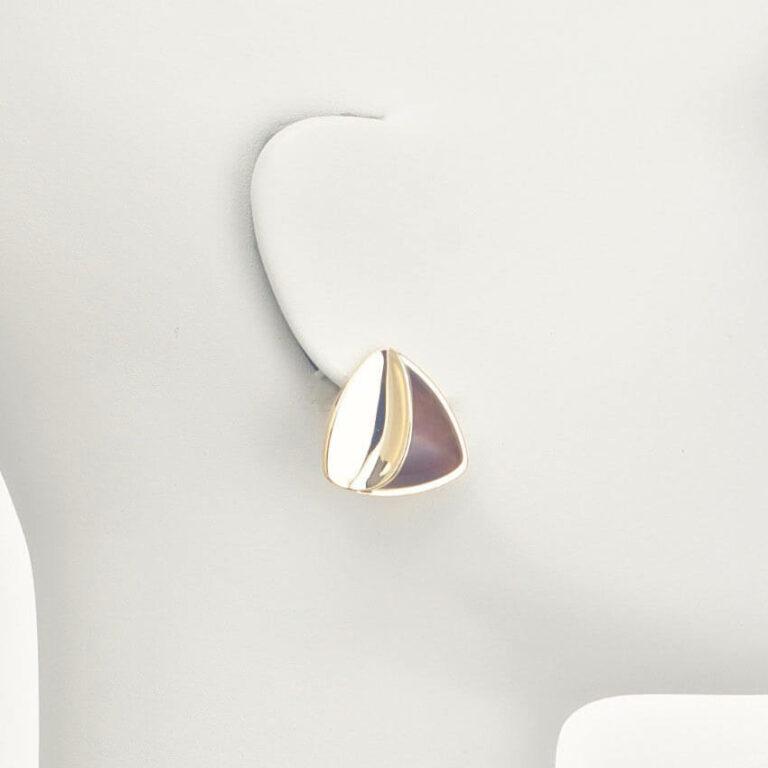orecchino clip oro marrone