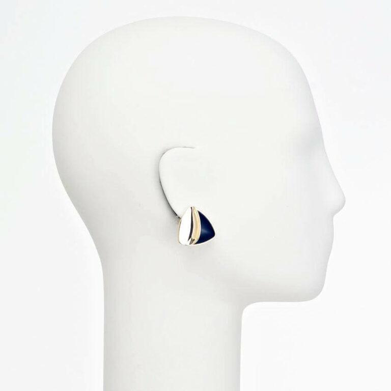orecchino clip oro nero