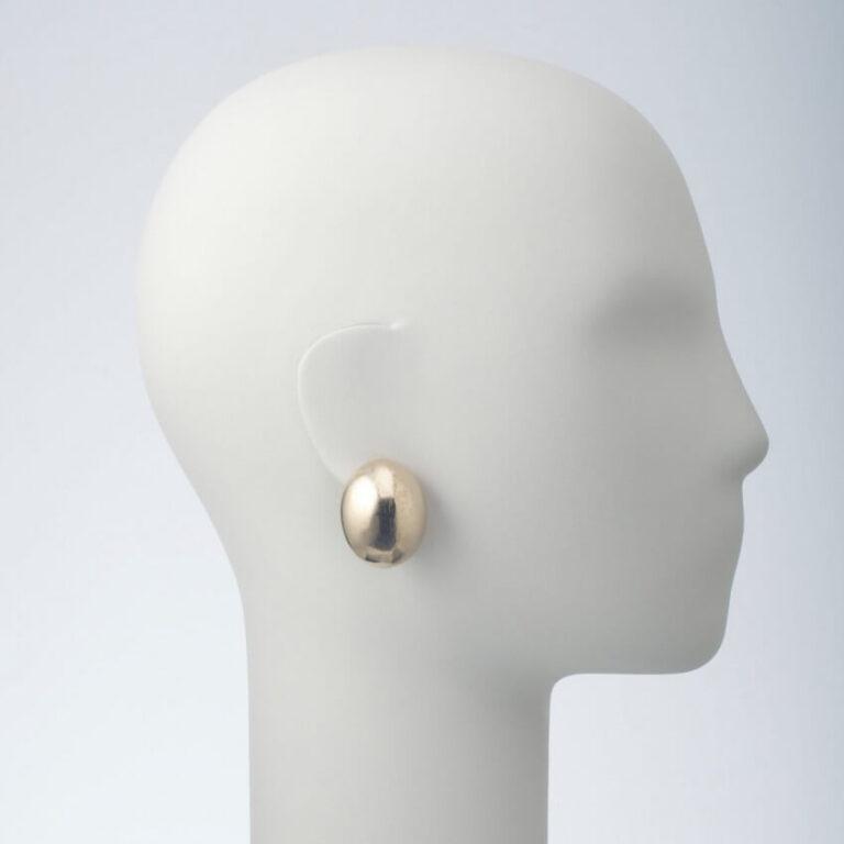 orecchino clip ovale oro