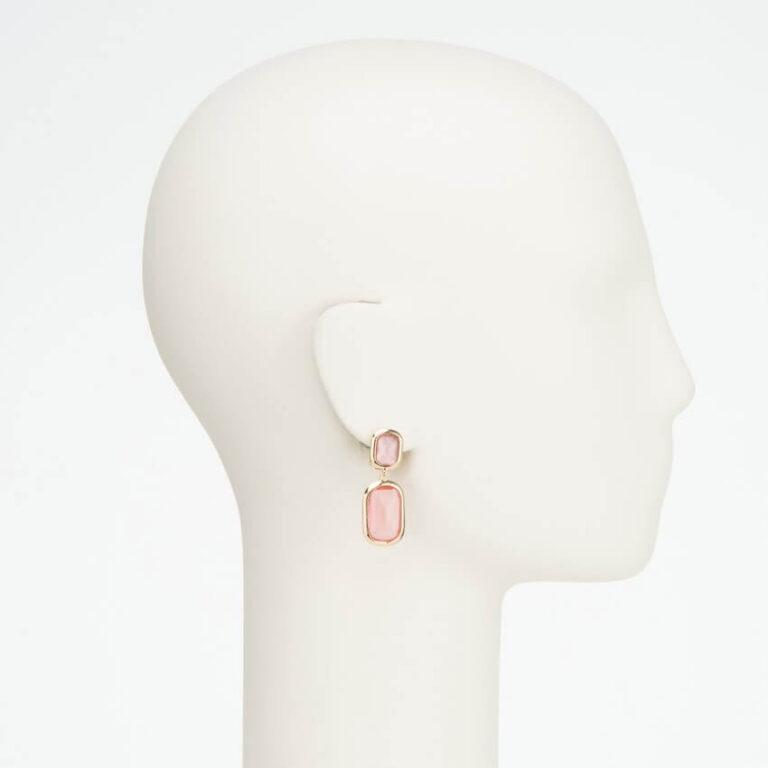 orecchino clip pendente oro rosa