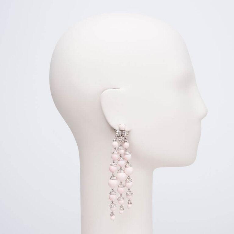 orecchino clip pendente pelle angelo