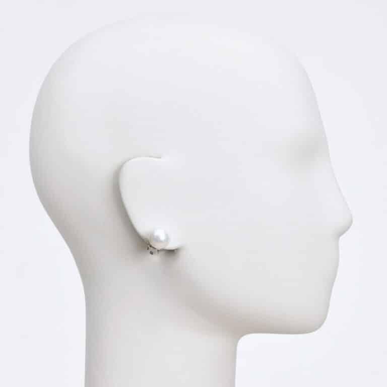 orecchino clip perla