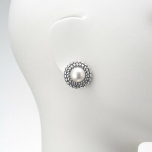 orecchino clip perla modello chanel argento