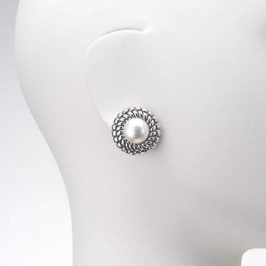 sito affidabile 35642 d64f9 Orecchino a clip colore argento e perla - Chic Ad Hoc