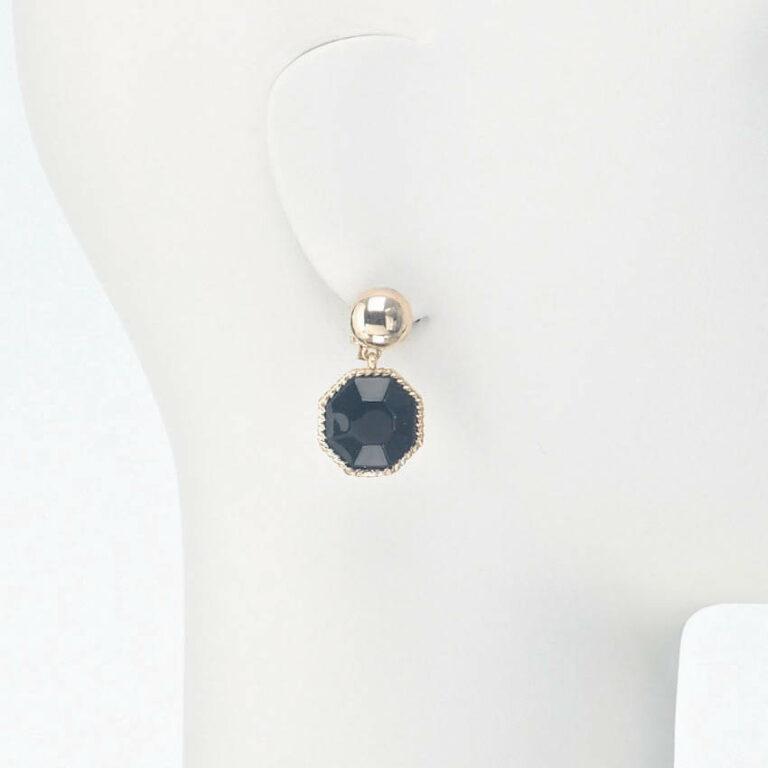 orecchino pendente clip resina nero