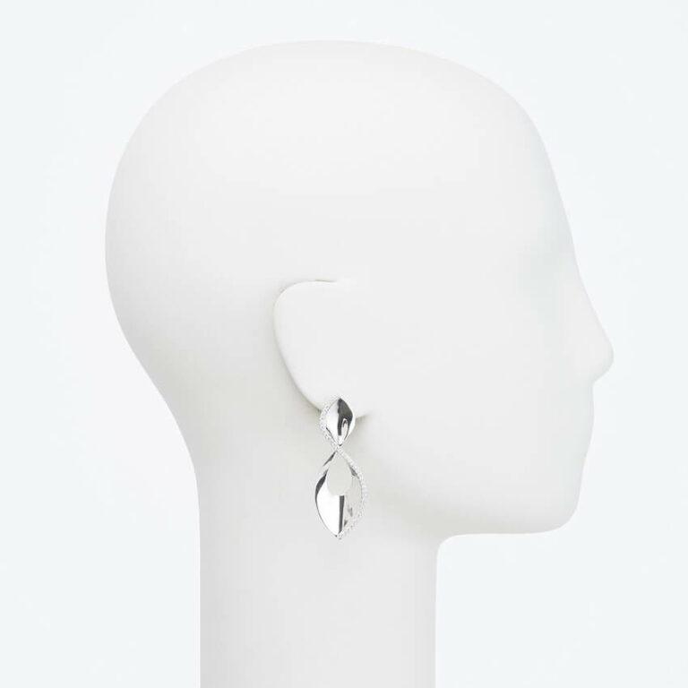 orecchino perno argento zirconi