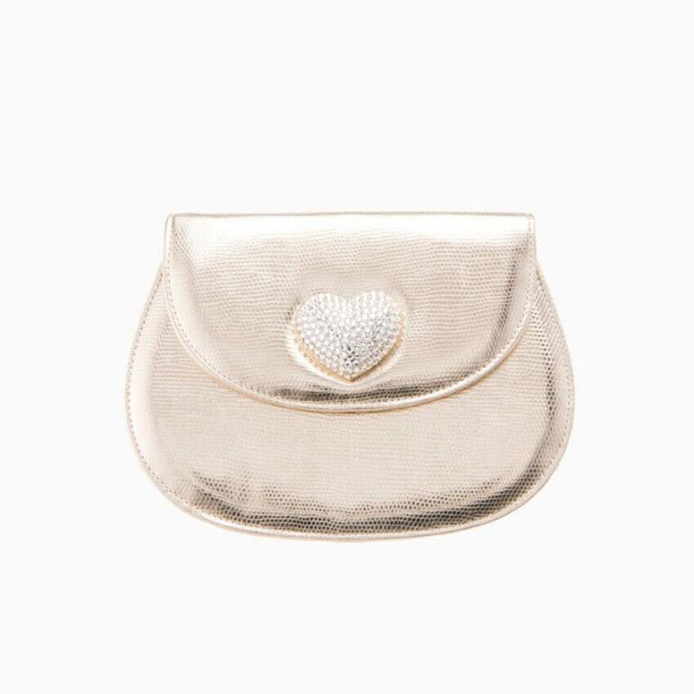 pochette borsina oro cuore