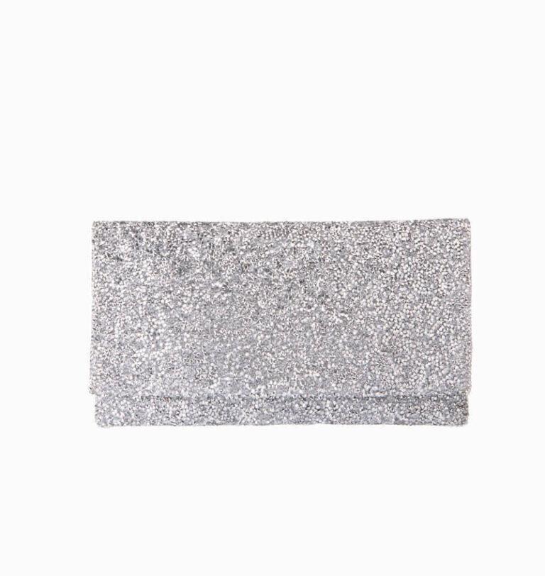 pochette cristalli argento