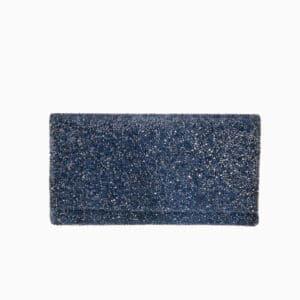 pochette cristalli blu