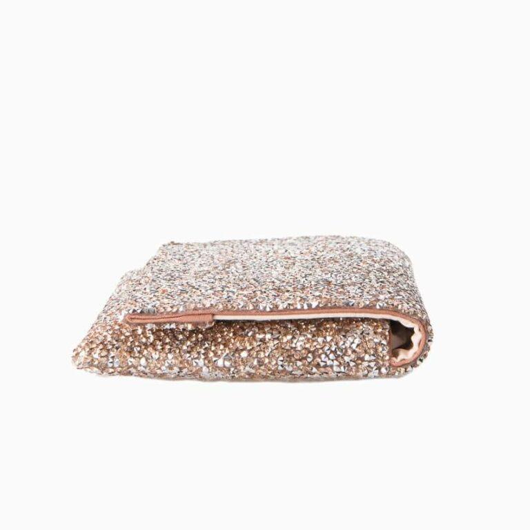 pochette cristalli oro argento