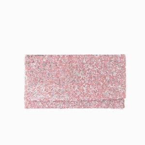 pochette cristalli rosa argento