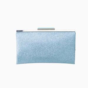 pochette glitter azzurro