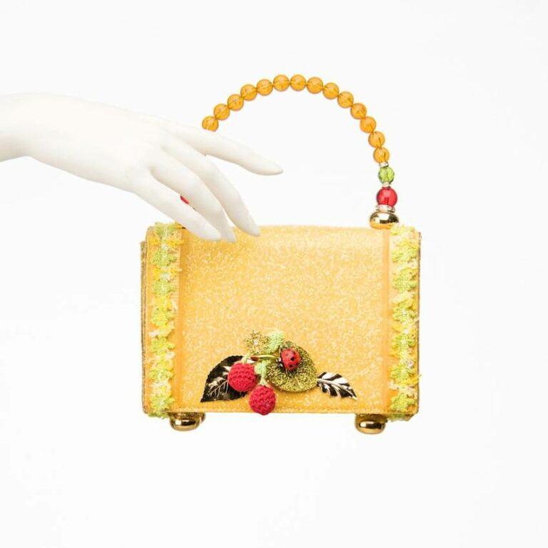 pochette glitter giallo zini