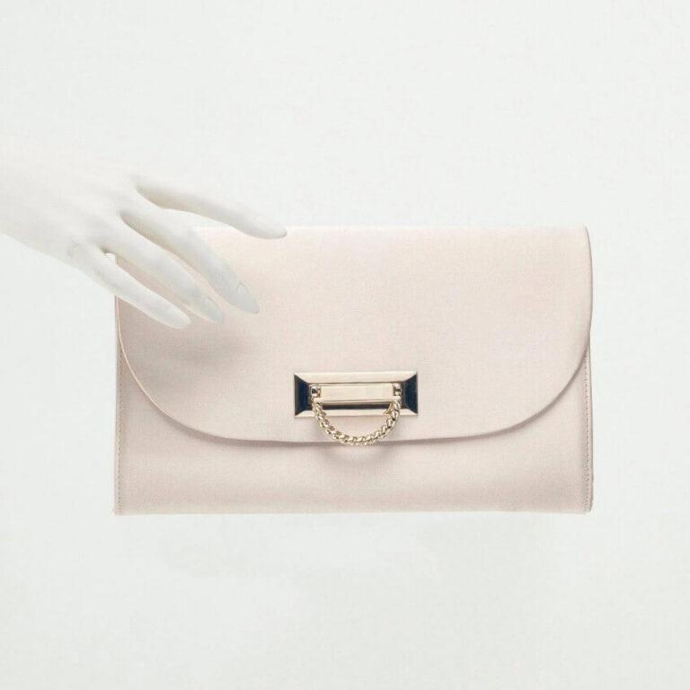 pochette raso rosa beige
