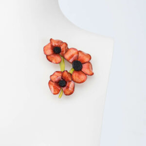 spilla fiori arancio