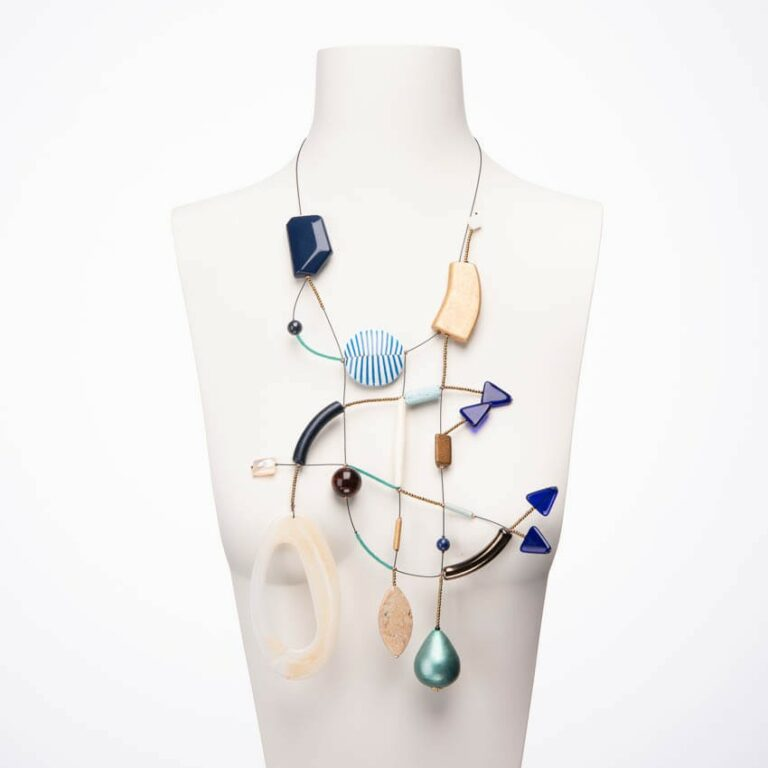 Collana design Blu, Sabbia e Righe