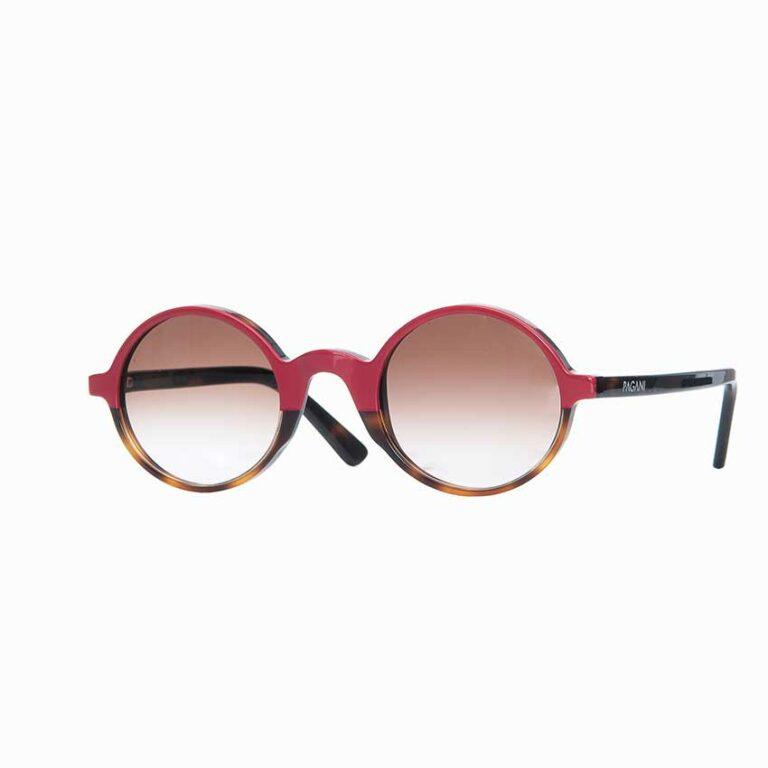 Occhiali da sole Pagani modello Opera bicolore rosa e tartaruga