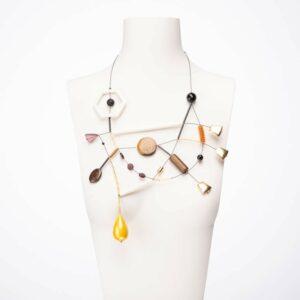 Collana design Terra e Oro