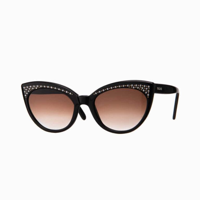 Occhiali da sole Pagani modello Agata nero con strass