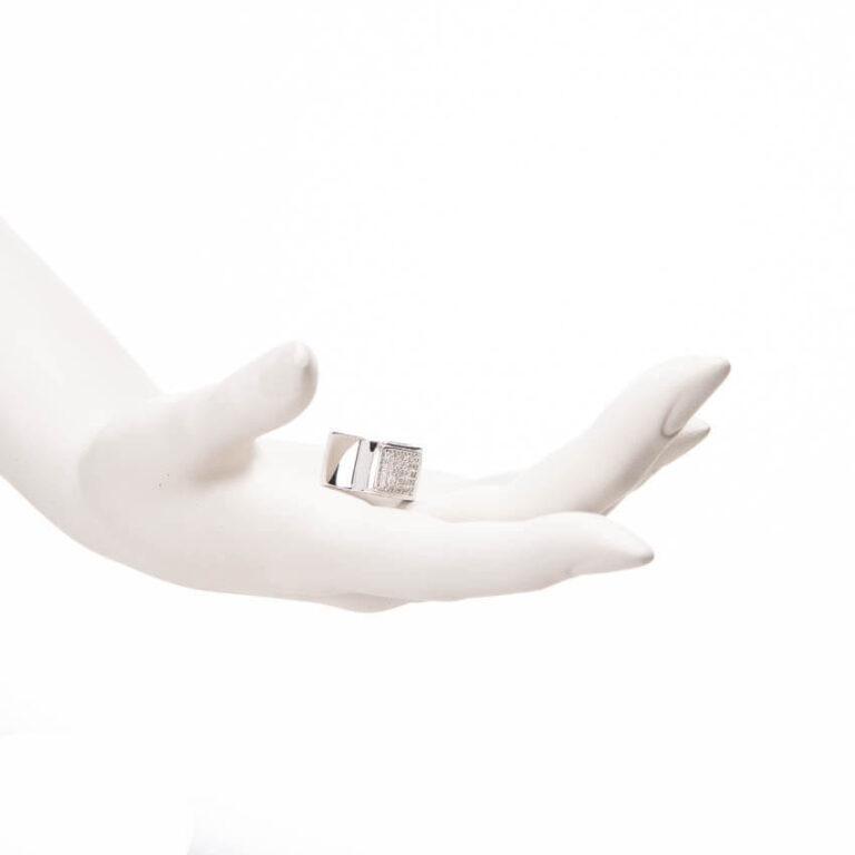 anello mignolo pave zirconi