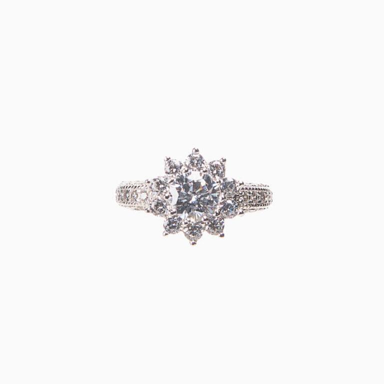 anello mignolo stella zirconi