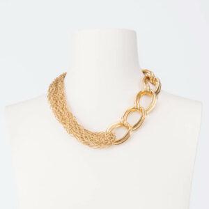 Collana girocollo catene miste colore oro