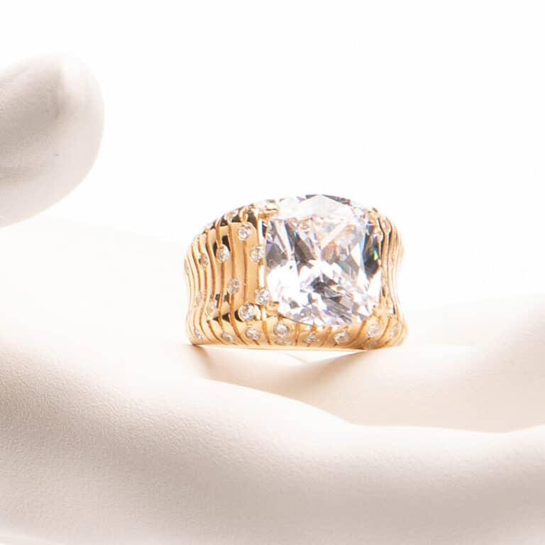 Anello pietra centrale crystal 1