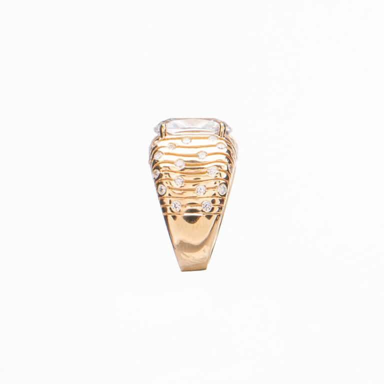 Anello pietra centrale crystal 3
