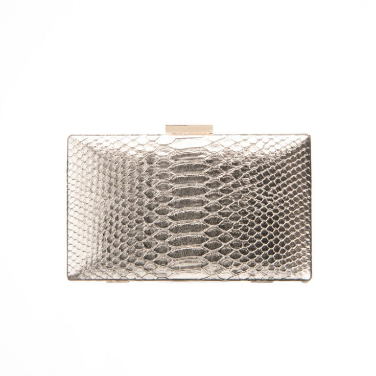 Clutch ecopelle stampa animalier colore oro 5